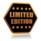 Bottone di esagono della stella dell'edizione limitata cinque Fotografia Stock Libera da Diritti