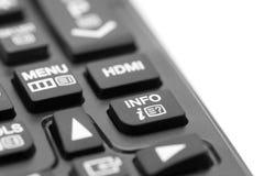 Bottone di informazioni su telecomando fotografie stock libere da diritti