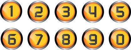 Bottone di numero illustrazione di stock