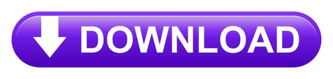 Bottone di porpora dell'angolo rotondo del quadrato di download di vettore illustrazione vettoriale