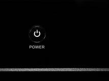 Bottone di potere Fotografie Stock