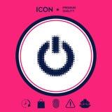 Bottone di potere - logo di semitono Fotografia Stock