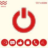 Bottone di potere - logo di semitono Immagini Stock
