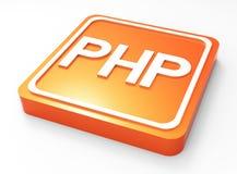 Bottone di programmazione del PHP 3D Fotografia Stock Libera da Diritti