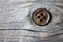 Bottone di rame d'annata Fotografie Stock Libere da Diritti