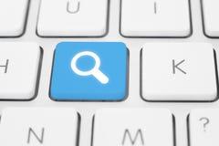 Bottone di ricerca Fotografia Stock