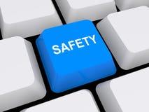 Bottone di sicurezza Immagini Stock Libere da Diritti