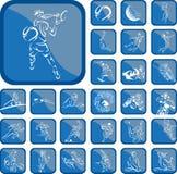 Bottone di sport Fotografia Stock