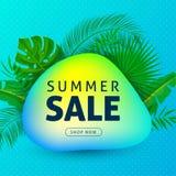 Bottone di vendita di estate illustrazione di stock