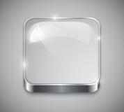 Bottone di vetro Fotografia Stock