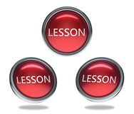Bottone di vetro di lezione illustrazione vettoriale