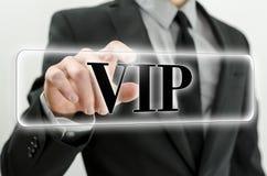 Bottone di VIP Fotografia Stock