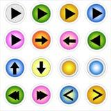 Bottone di web fotografie stock