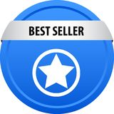 Bottone di web del best-seller Fotografia Stock Libera da Diritti