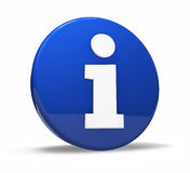 Bottone di web di simbolo di informazioni Fotografie Stock