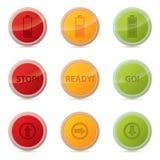Bottone di web messo con le varie icone Fotografia Stock Libera da Diritti