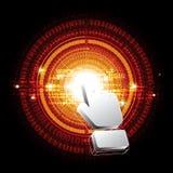 Bottone digitale del cerchio di clic del cursore Fotografie Stock