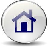 Bottone domestico dell'icona Fotografia Stock Libera da Diritti