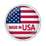 Bottone - FATTO in U.S.A. Fotografie Stock