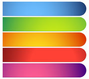 Bottone, forme dell'insegna, ambiti di provenienza Etichette astratte, etichette colore illustrazione vettoriale