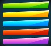 Bottone, forme dell'insegna, ambiti di provenienza Etichette astratte, etichette colore royalty illustrazione gratis