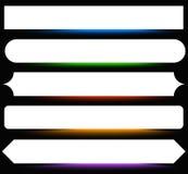 Bottone, forme dell'insegna, ambiti di provenienza Etichette astratte, etichette colore illustrazione di stock