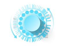 Bottone futuristico di controllo come fondo per il vostro progetto Immagine Stock