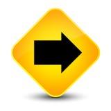 Bottone giallo elegante del diamante dell'icona seguente della freccia Fotografia Stock