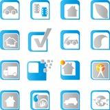 Bottone, logo, icona, icone del sito Web illustrazione di stock