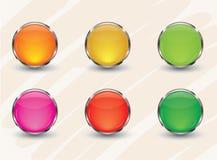 Bottone lucido  Fotografia Stock Libera da Diritti