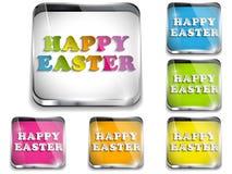 Bottone lucido felice di applicazione di Pasqua illustrazione di stock