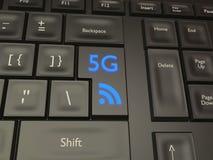 bottone mobile del collegamento 5G Fotografia Stock