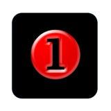 Bottone numero uno Immagini Stock Libere da Diritti