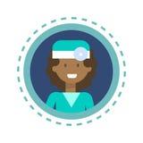 Bottone online di consultazione del lavoratore della medicina di medico Icon Clinics Hospital Fotografie Stock