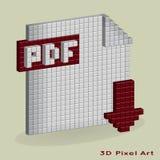 Bottone pdf di download di vettore Illustrazione di Stock