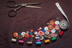 Bottone per l'indumento Immagine Stock Libera da Diritti