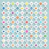 Bottone piano di web del rombo dell'icona della freccia Immagini Stock