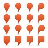Bottone piano di web dell'icona di posizione del segno del perno della mappa di Brown Immagini Stock Libere da Diritti
