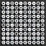 Bottone piano di web di esagono dell'icona della freccia Fotografia Stock Libera da Diritti