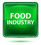 Bottone quadrato verde chiaro al neon di industria alimentare royalty illustrazione gratis