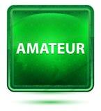 Bottone quadrato verde chiaro al neon dilettante illustrazione di stock