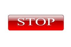 Bottone rosso Fotografia Stock Libera da Diritti