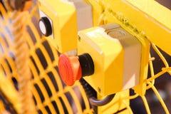 Bottone rosso Immagine Stock