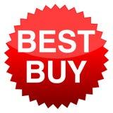 Bottone rosso Best Buy Fotografia Stock
