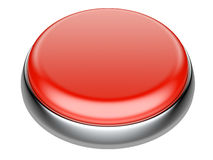 Bottone rosso con gli elementi metallici Fotografie Stock
