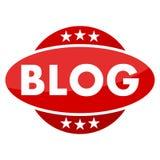 Bottone rosso con il blog delle stelle royalty illustrazione gratis