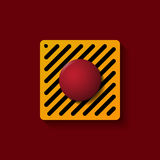 Bottone rosso del lancio Immagini Stock