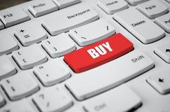Bottone rosso di aiuto sulla tastiera bianca Immagini Stock Libere da Diritti