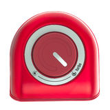 Bottone rosso di Turbo Immagine Stock Libera da Diritti