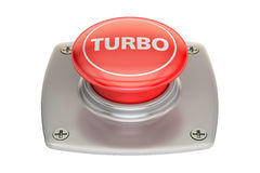 Bottone rosso di Turbo, rappresentazione 3D Immagine Stock Libera da Diritti